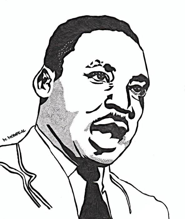 Martin Luther King Line Drawing